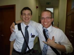 Elder Gilbert and his MTC companion, Elder Gardner.