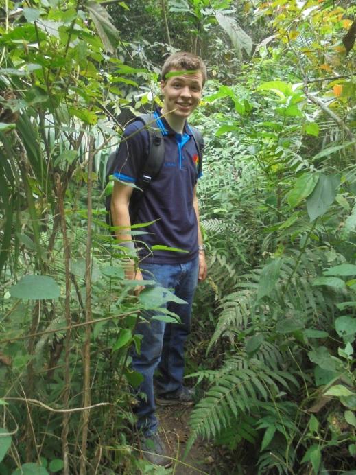 2017 1 2 Ben hiking at Nyamkomasu Falls