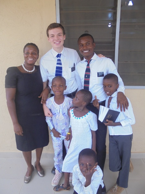 Elder Gilbert with some of his friends from Obuasi