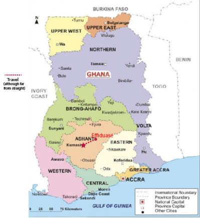 Map of Effiduase