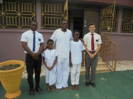 2017 6 5 Elder Naawu and Ben with the Joseph Gogo, Sandra, and Amanda