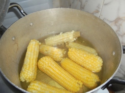 2017 7 10 Corn Cooking in a pot